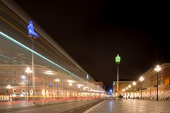 Evening at the Place Masséna in Nice stock photo