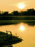 Evening by a Pond Stock Photography