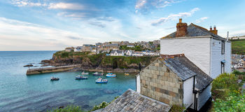Evening at Port Isaac in Cornwall Stock Photography