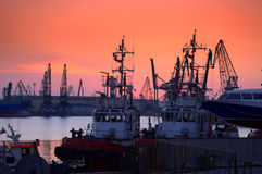 Evening port Royalty Free Stock Photography