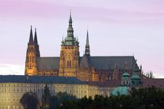 Evening Prague Castle Royalty Free Stock Photos