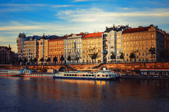 The evening in Prague Stock Photography