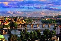 Evening Prague Royalty Free Stock Photo