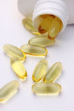 Evening primrose capsules Stock Photos
