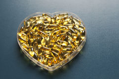 Evening primrose oil capsules Stock Photography