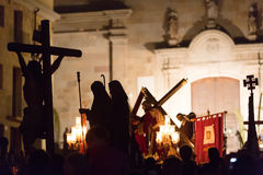Evening procession during Holy Week in Badalona Royalty Free Stock Photo