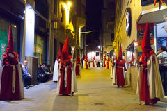Evening procession during Holy Week Stock Images