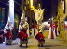 Evening procession during  Holy Week in Murcia Stock Photos
