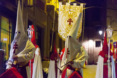 Evening procession during Holy Week in Murcia Royalty Free Stock Images