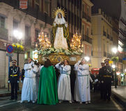 Evening procession during Semana Santa in Alicante Stock Photo