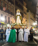 Evening procession Semana Santa in Alicante Stock Photos
