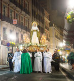 Evening procession Semana Santa in Alicante Royalty Free Stock Photo