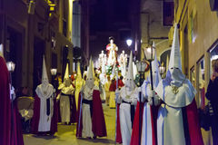 Evening procession during Semana Santa Stock Images