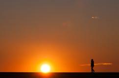 Evening przespacerowanie fotografia stock