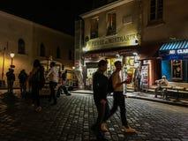 Evening przespacerowanie na Montmartre, Paryż, Francja zdjęcie royalty free
