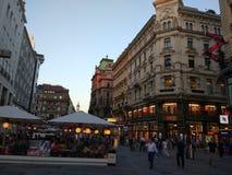 Evening przespacerowanie w Wiedeń zdjęcia stock