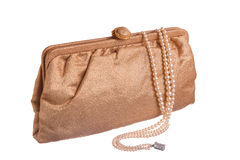 Evening Purse and Pearls Royalty Free Stock Photography