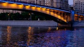 Evening quay, bridge, stock footage