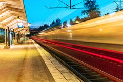 Evening railway station Royalty Free Stock Photography