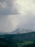 Evening rainfall in the Williams Mountains, Sawatch Range, Colorado. This system proved to be a paper tiger as I stayed dry nearly all the way back to the royalty free stock images