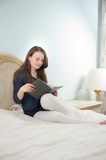 Evening reading Stock Photography
