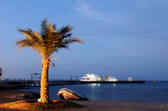 Evening at Red Sea. Stock Photo