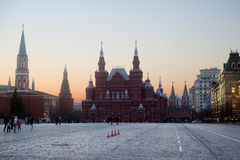 Evening at the Red Square in Moscow. Russia Stock Photo