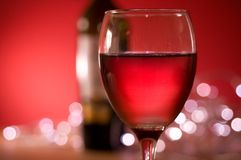 Evening Red Wine Royalty Free Stock Images