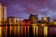 Evening reflection in Dublin Stock Photo