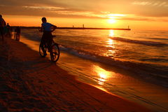 Evening relaxation on the Baltic Sea. Royalty Free Stock Photo