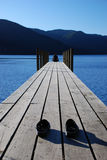 Evening relaxation on the pier Royalty Free Stock Photos