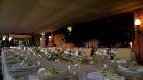 Evening restaurant. stock video