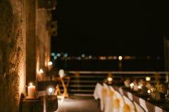 Evening restaurant party reception. Part banquet stock photos
