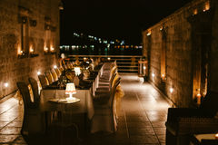 Evening restaurant party reception Royalty Free Stock Photo