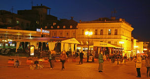 Evening restaurants at Bolshaya Pokrovskaya street in Nizhny Nov Royalty Free Stock Photo