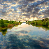 Evening on river Royalty Free Stock Images