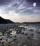 Evening river. A picture of mountain river in the evening Stock Image