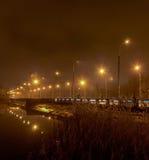 Evening on the river Kalmius. Donetsk. Ukraine bw Stock Images