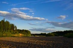 Evening river landscape