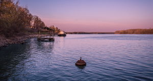Evening on the river Royalty Free Stock Photo