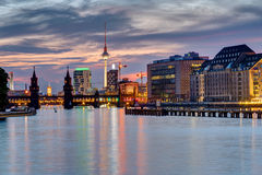 Evening at the river Spree in Berlin Royalty Free Stock Photo