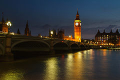 Evening on the River Thames Stock Photography