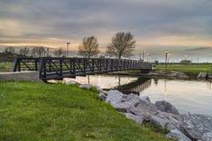 Evening River Walk Stock Photo