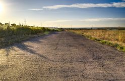 Evening road Royalty Free Stock Photography