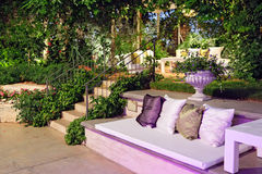 Evening romantic patio, outdoor. Royalty Free Stock Photography