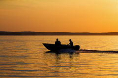 Evening row Royalty Free Stock Photo