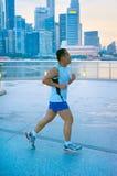 Evening run in Singapore Stock Image