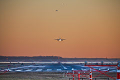 Evening Rush Hour at Airport Royalty Free Stock Photos