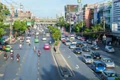 Evening rush Hour in Bangkok Centre, Thailand Royalty Free Stock Photo
