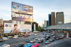 Evening rush Hour in Bangkok Centre, Thailand Stock Image